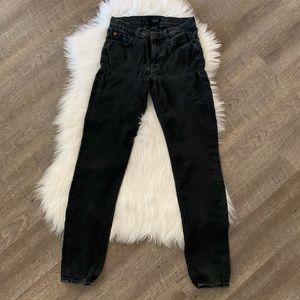 Hudson black stretch skinny jeans